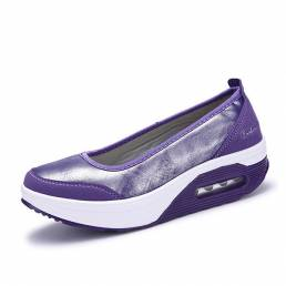 Casual Rocker Sole Shoes al aire libre Sport Slip On Flats