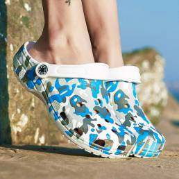 SOCOFY Mujer Zuecos ligeros Slingback Zuecos Impermeable Antideslizantes Sandalias