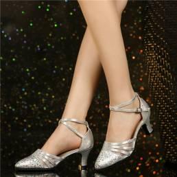 Salón de baile para mujer Tacones de 5.5 cm Soft Zapatos de entrenamiento cómodos Zapatos de baile Bombas