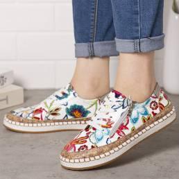 Mujeres Folkways Printing Zapatos cómodos planos antideslizantes cómodos