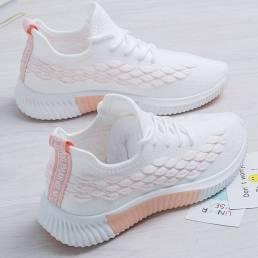 Zapatillas de deporte antideslizantes transpirables de malla cómoda para mujer
