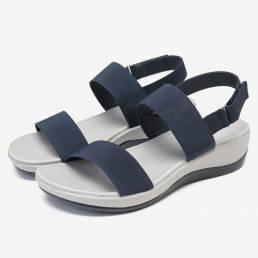 LOSTISY Open Toe Lightweight Playa Wedges Sandalias
