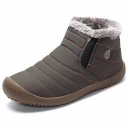Tamaño grande Invierno Unisex Algodón Nieve Botas Mantener caliente al aire libre Tobillo de felpa Botas