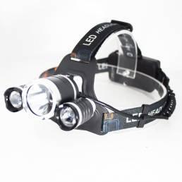 XANES® 3 LED T6 + 2 * Q5 Faro LED 4 modos Faro de ciclismo al aire libre Luz de linterna Linterna recargable USB para ca