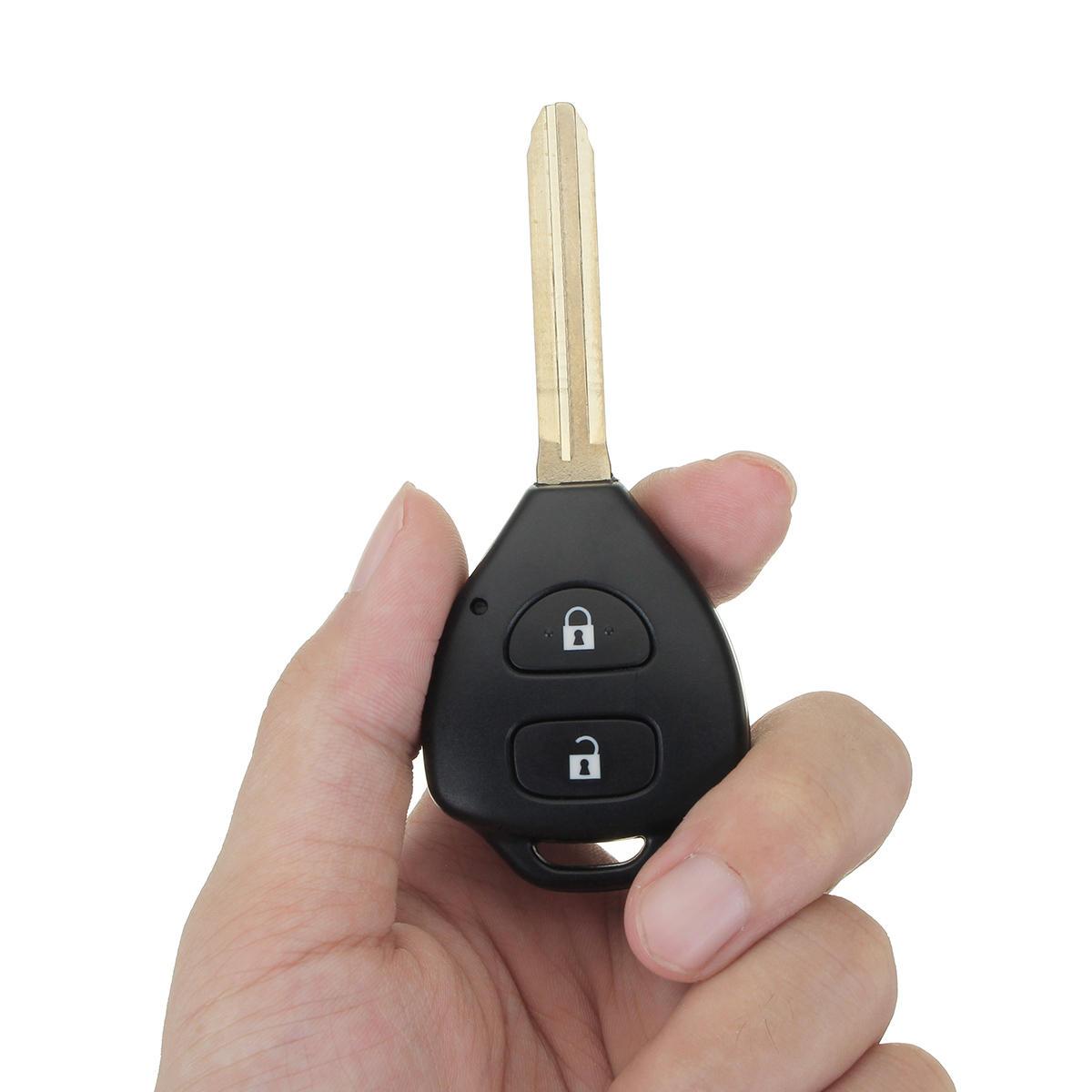 433 MHz 4D Coche Control remoto clave clave completa con chips para Toyota Hilux 2004-2009
