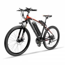 LANKELEISI T8 10.4Ah 48V 400W Bicicleta de ciclomotor plegable 26 pulgadas 100Km Kilometraje Carga máxima 120 kg Con enc