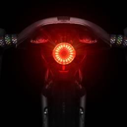 WEST BIKING 60lm 350mAh Luz trasera de bicicleta Ultra brillante Manual / Inducción USB recargable LED Luz trasera de bi