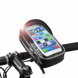ROCKBROSB31-BK6.0InchPantallatáctil de TPU a prueba de lluvia Teléfono de la bicicleta Bol