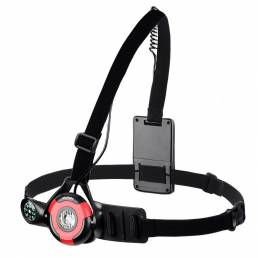 WEST BIKING 2200mAH USB recargable luz deportiva para correr con brújula Cámara mosquetón IPX5 Impermeable Faro de alto