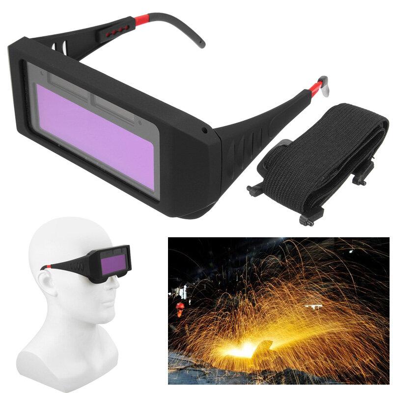 Antirreflejos a prueba de rayos UV Solar Soldadura de oscurecimiento automático Mascara Ojos de casco Gafas de protecció