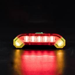 XANES® 100LM 300mAh Luz trasera de bicicleta 4 modos USB ajustable Luz trasera de bicicleta recargable Sillín de adverte