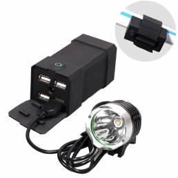 BIKIGHT P4 7200/8800 / 10400mAh Bicicleta Banco de energía 2A Luz de carga rápida Fuente de alimentación de teléfono