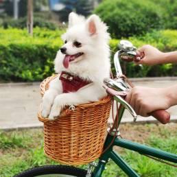 Cesta de mimbre para bicicleta en forma de D vendimia Cestas de mimbre para bicicleta Cestas para bicicleta de carretera