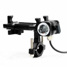 BIKIGHT Ligero a prueba de golpes Split Tipo Soporte para teléfono celular Linterna potente recargable Bcycle Faro