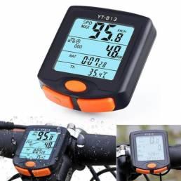 Ordenador de bicicleta a prueba de agua LED Tasa digital Odómetro Cronómetro Velocímetro al aire libre Ciclismo con luz