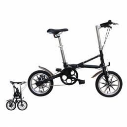 14 Inch Bicicleta plegable Aluminio Mini bicicleta plegable ligera Frenos de disco dobles Estudiantes Bicicleta urbana d