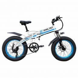 SMLRO S9 20in 48V 10Ah 350W Bicicleta eléctrica plegable 35 km / h Velocidad máxima 60-65KM Rango de kilometraje E Bicic