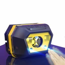XANES® 605A 650LM XPE + SMD Smart Sensor Mini faro delantero 2 modos USB recargable Impermeable al aire libre Riding pes