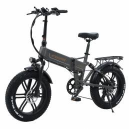 Bicicleta eléctrica de nieve JINCHMA R6s 20in 16Ah 48V 500W bicicleta eléctrica plegable 40 km / h velocidad máxima 110