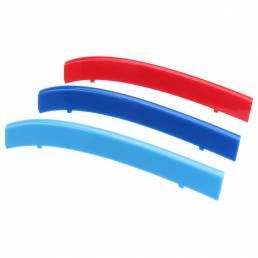 Ajuste de la cubierta de la rejilla del centro delantero plástico tricolor de 3 piezas para BMW 5 Series E39 99-04
