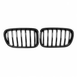 Par de rejilla de riñón frontal negro brillante para BMW X3 F25 2010-2013