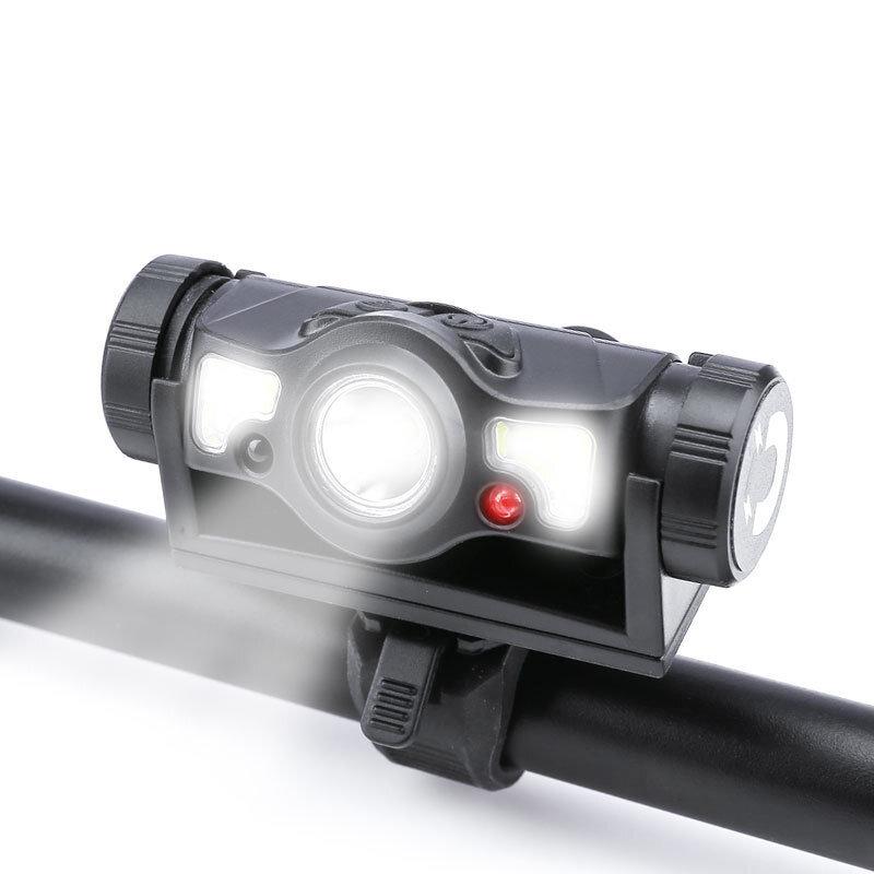 XANES® XPG 180LM Luz de inducción para bicicleta Magnética 5 modos Marco frontal de bicicleta recargable por USB Lámpara