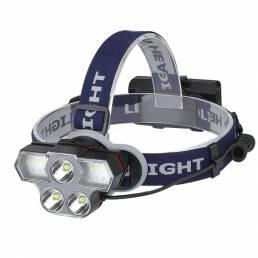 XANES® 6-Modos 2400LM 3 * T6 LED Faro de carga USB al aire libre Luz de trabajo de iluminación Impermeable Linterna de c