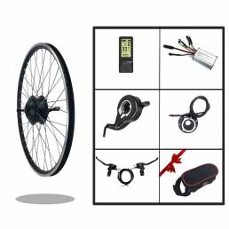 BIKIGHT KT-LCD4 Pantalla Kit de conversión de bicicleta eléctrica 24 V 250 W tracción delantera motor Buje de rueda de b