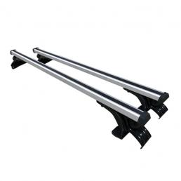 Barra transversal universal para Coche sin barra de techo original Barra de techo de aleación de aluminio con tres ganch