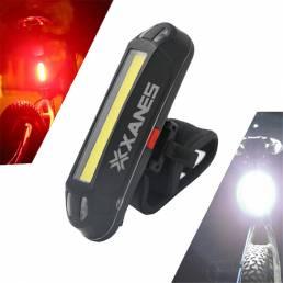 XANES 2 en 1 500LM Bicicleta USB recargable LED Luz de bicicleta Luz trasera Luz de advertencia ultraligera