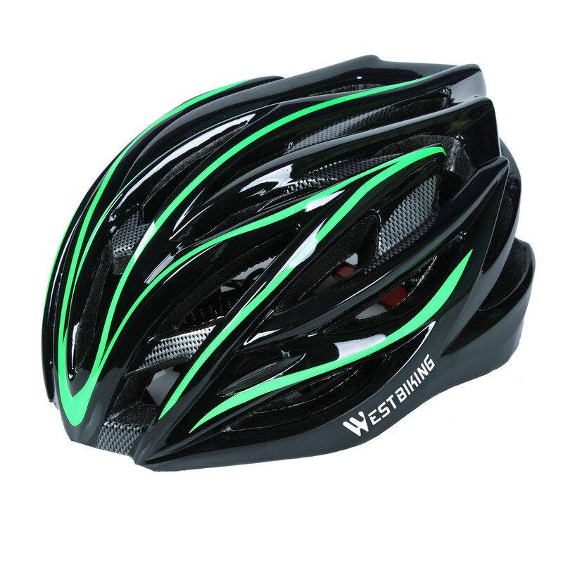 WEST BIKING Casco de bicicleta Ultraligero Protección de bicicleta transpirable moldeado integralmente al aire libre Cas