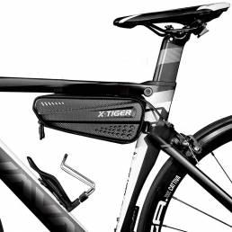 Bicicleta de ciclismo X-TIGER ES4 Bolsa 1.2L Impermeable 3D EVA Shell Pouch Bike Top Front Tube Triangle Bike Frame Bols