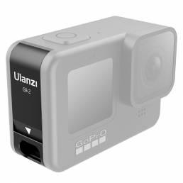 ULANZI Sport Cámara Cubierta protectora lateral Puerto USB recargable Batería Tapa para Hero8 / 9 a prueba de polvo Impe