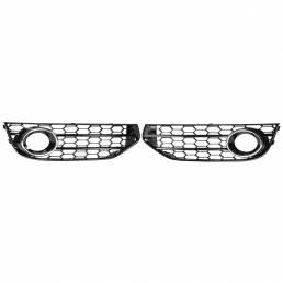 HONEYCOMB HEX parrilla delantera parrilla cromo plata luz antiniebla Lámpara cubierta para A4 B8 B8.5 ALLROAD 2009-2015