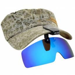 BIKIGHT Polarized UV Protection Otudoor Polarized Clip-On Cap Lente Gafas de sol para ciclismo Conducción Gafas para hom