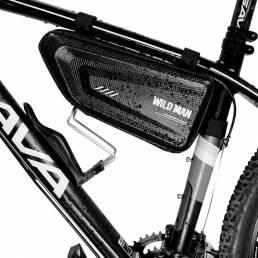 HOMBRE SALVAJE Triangular Bike Bolsa 1.5L Gran espacio a prueba de lluvia para bicicletas eléctricas de montaña Biciclet