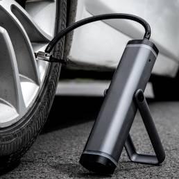 DELI LED Pantalla Inteligencia Inflador de neumáticos de bicicleta de mano Bomba de aire eléctrica inalámbrica Bomba de