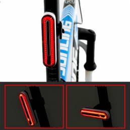 XANES® TL40 37g Ligero Impermeable Luz de cola de bicicleta recargable Luz de advertencia de bicicleta para una conducci