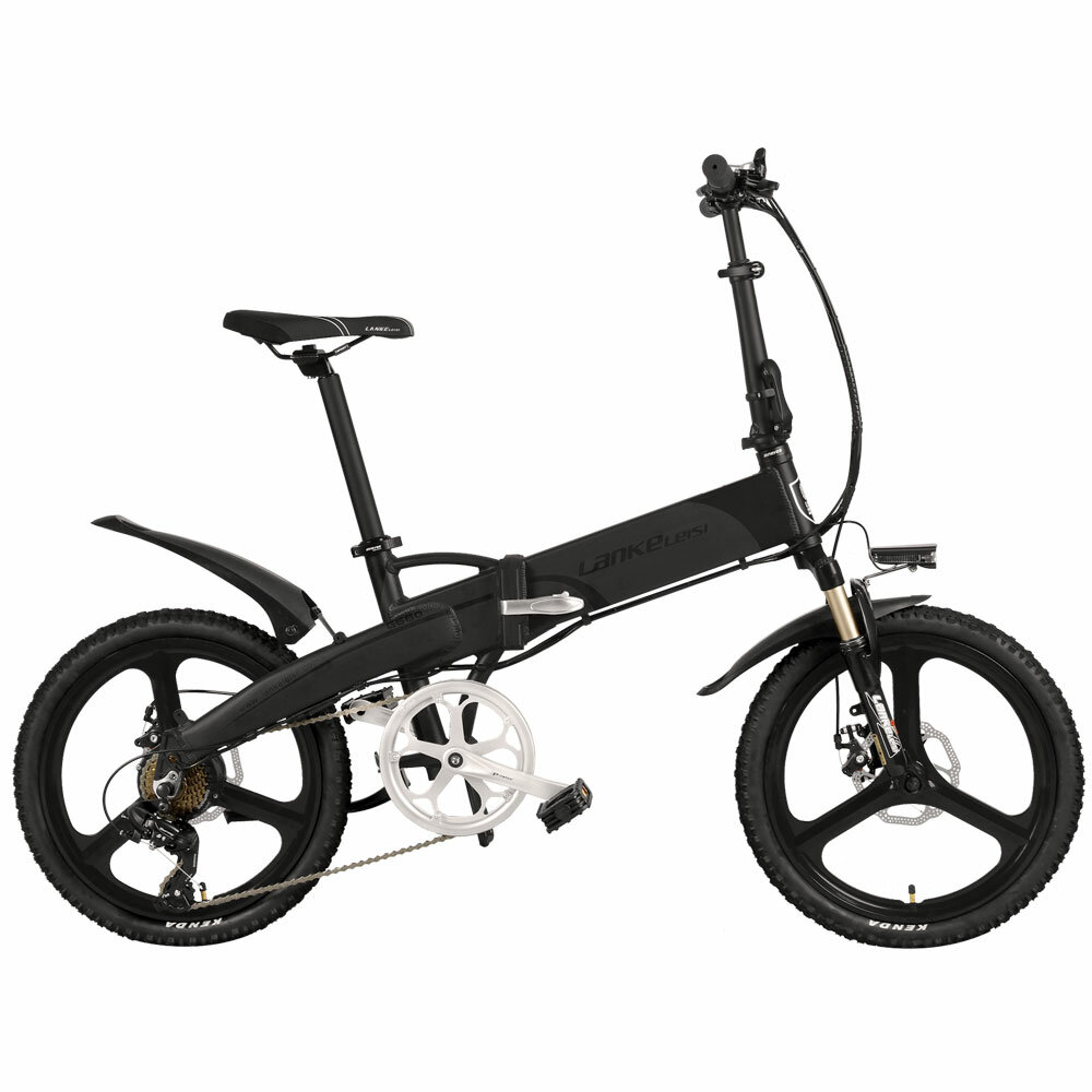 LANKELEISI G660 14.5ah 48V 400W 20 pulgadas bicicleta de ciclomotor plegable 100Km kilometraje carga máxima 120 kg con e
