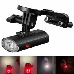 WEST BIKING 650LM 6Modes USB Luz de bicicleta recargable Soporte delantero Impermeable Luz trasera de bicicleta Luces tr