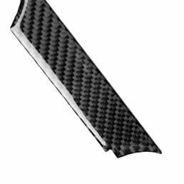 5 juego de decoraciones de cubierta de tira de consola central de tablero de fibra de carbono para Chevrolet Camaro 2017