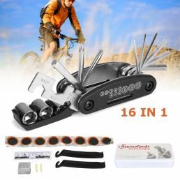 Reparación de bicicletas multifunción 16 en 1 herramienta Kit Torque de película de molienda Llave Destornillador