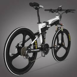 LANKELEISI XT750 10Ah 48V 400W 26 pulgadas ciclomotor bicicleta eléctrica bicicleta plegable 80Km kilometraje carga máxi