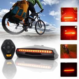 BIKIGHT 85LM Luz trasera de bicicleta USB inalámbrico trasero de bicicleta luz LED Control remoto Señal de giro Láser al