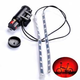 BIKIGHT MTB Bicicleta Fork luz de la barra de luz de la tira 12 LED 8 modos de lámpara de la rueda impermeable