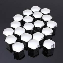 El juego de 20 cerrojos de gorras de plástico de coches de 17 mm de PC cubre la rueda de la aleación de nueces