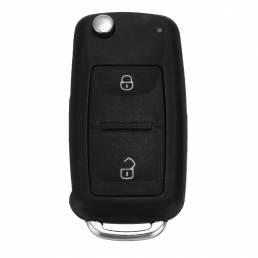 Botón2ControlremotoLlaveFOB Caso con Batería para VW Transporter T5 Polo GOLF Polo