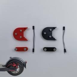 Kit de junta de luz trasera de almohadilla de aumento de junta de guardabarros de scooter de 10 pulgadas para scooter el