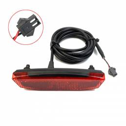 Luz trasera BIKIGHT 6-60V Ebike / luz trasera LED Advertencia de seguridad trasera Lámpara para conexiones de interfaz E