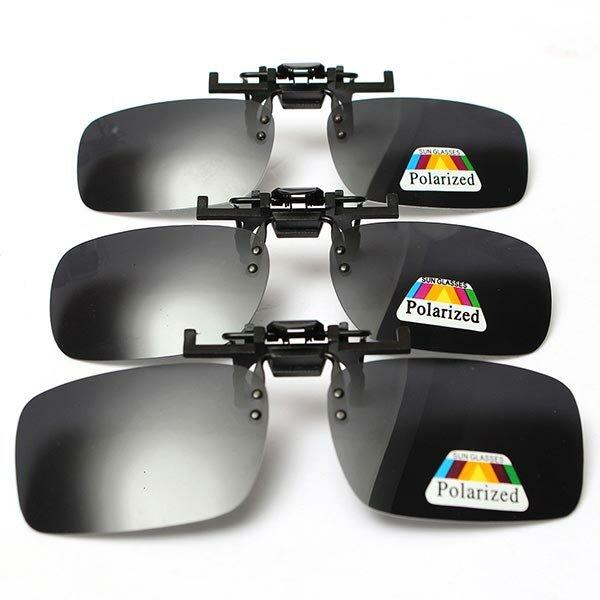 BIKIGHT Gafas de sol polarizadas con clip Gafas Lente Unisex de alta calidad UV400 Sol Gafas Gafas de conducción transpa